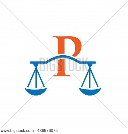 Law Firm Logo Design On Letter P. Lawyer And Justice, Law Attorney, Legal, Lawyer Service, Law Offic