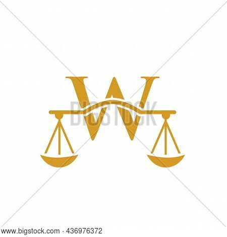 Law Firm Logo Design On Letter W. Lawyer And Justice, Law Attorney, Legal, Lawyer Service, Law Offic