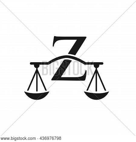 Law Firm Logo Design On Letter Z. Lawyer And Justice, Law Attorney, Legal, Lawyer Service, Law Offic