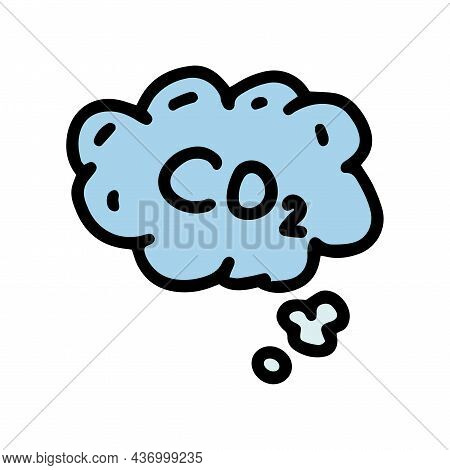 Co2 Emissions Color Vector Doodle Simple Icon