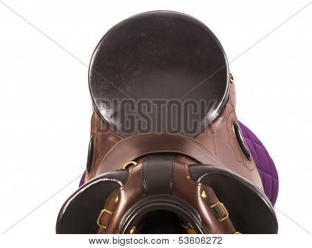 Horse Saddle With A White Background