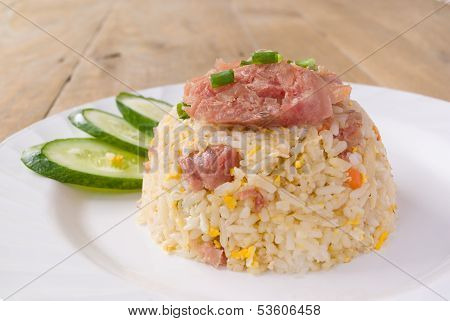 Stir-fried Rice With Shredded And Salted Pork