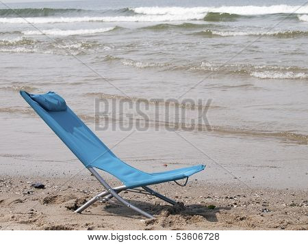 Beach Chair On The Beach
