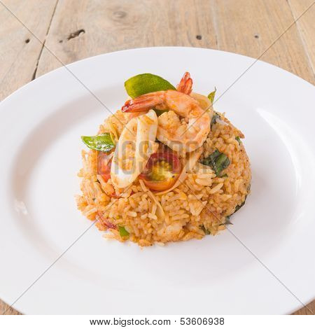 Tom Yam Seafood Fried Rice