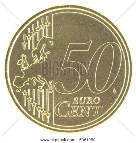 Uncirculated 50 Eurocent New Map