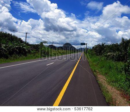 Highway 44 Near Krabi, Thailand