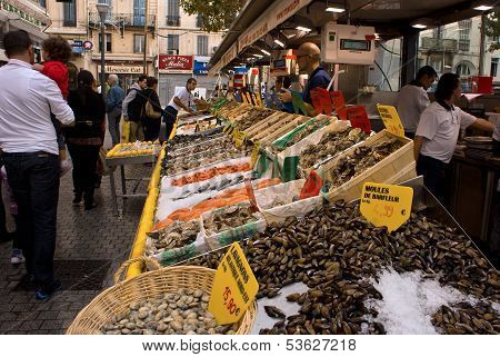 Fish Market In Marseille