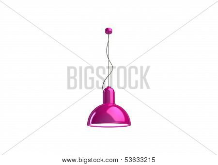 Pink Plastic Lamp