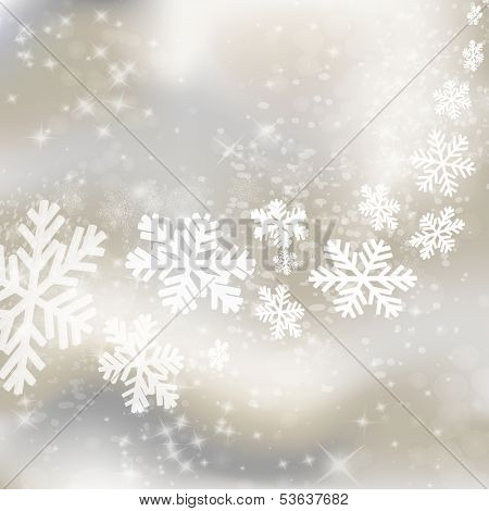 Xmas background. Abstract winter design with stars and snowflakes. Vector eps10 illustration