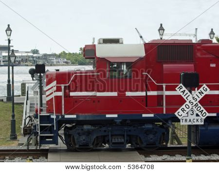 Train And Crossing