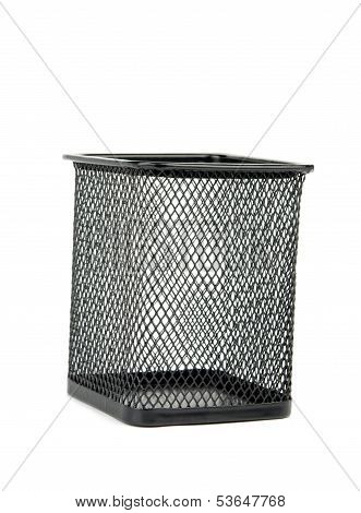 Wastebasket Is Isolated