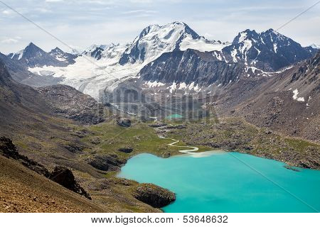 Ala-Kul lake in Tien Shan mountains