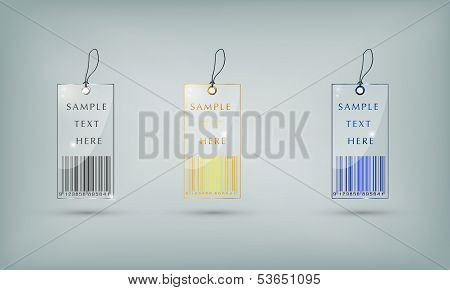 Circle Glass Tags Template