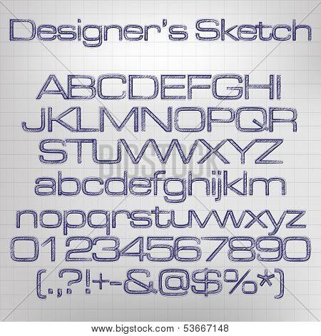 Sketched vector alphabet