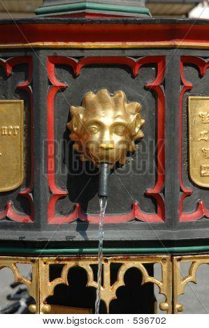 European Fountain Figurine