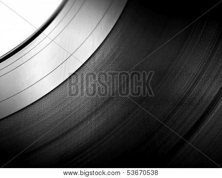 Vinyl Lp Close Up Blue Background