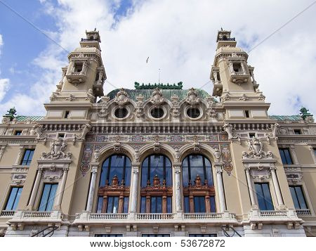 The Principality of Monaco. Architectural details of the Prince's Palace