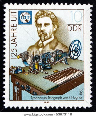 Postage Stamp Gdr 1990 David Edward Hughes