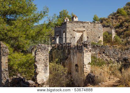 Ghost Town (kayakoy) In Turkey
