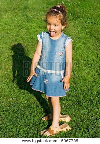 Playful Little Girl