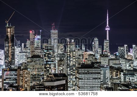 Downtown Toronto at night