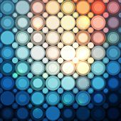 Blue abstract shining dots vector seamless pattern poster