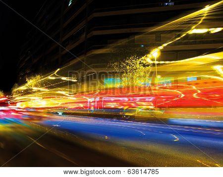 Traffic lights blur