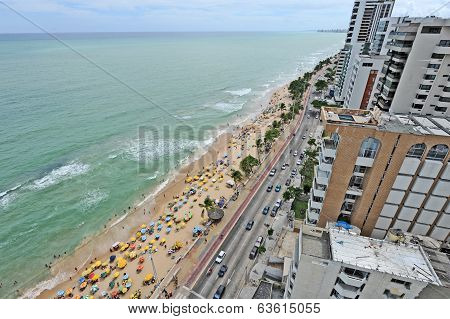 A view to the city beach in Recife
