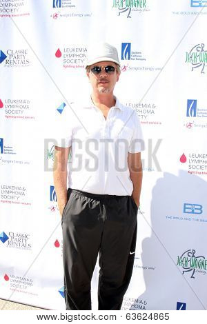 LOS ANGELES - APR 14:  David Spade at the Jack Wagner Anuual Golf Tournament benefitting LLS at Lakeside Golf Course on April 14, 2014 in Burbank, CA
