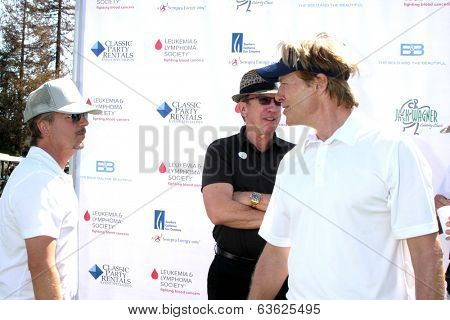LOS ANGELES - APR 14:  David Spade, Jack Wagner at the Jack Wagner Anuual Golf Tournament benefitting LLS at Lakeside Golf Course on April 14, 2014 in Burbank, CA