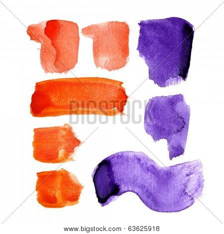 Marks - Watercolor letters over white background