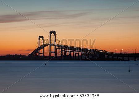 Newport Pell Claiborne Bridge Sunset
