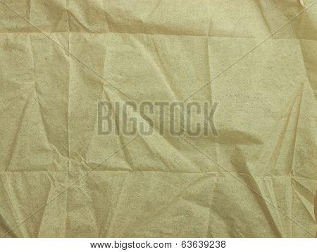 Crumpled Paper Napkin