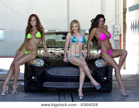 Models At The Car Wash