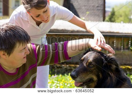 Animal Assisted Therapy With A Dog