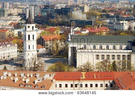 Center Of The Old European Vilnius City In Lithuania