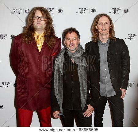 NEW YORK-APR 17: Directors Reginald Harkema, Scot Mcfadyen and Sam Dunn attend the 'Super Duper Alice Cooper' premiere at Chelsea Bow Tie Cinemas on April 17, 2014 in New York City.