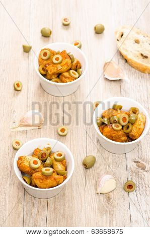 Spanish Tappa Chicken Breast With Olives
