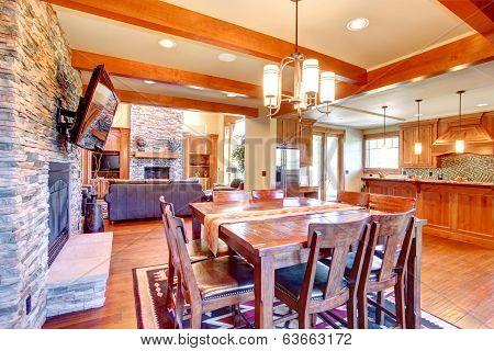 Luxury House Interior. Dining Room