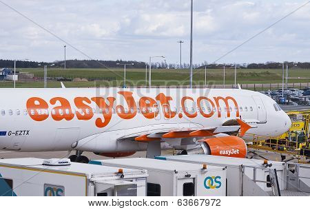Easyjet Airplane At The Airport