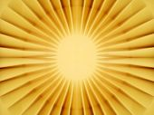 Inner core of a sun shining bright yellow light. poster