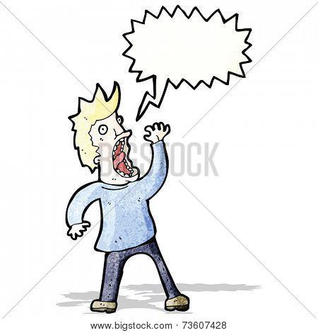 cartoon shrieking man