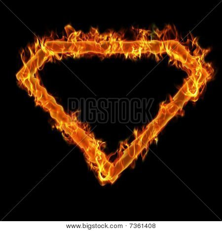 Burning superman frame