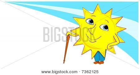 Sun-boy with a cane.