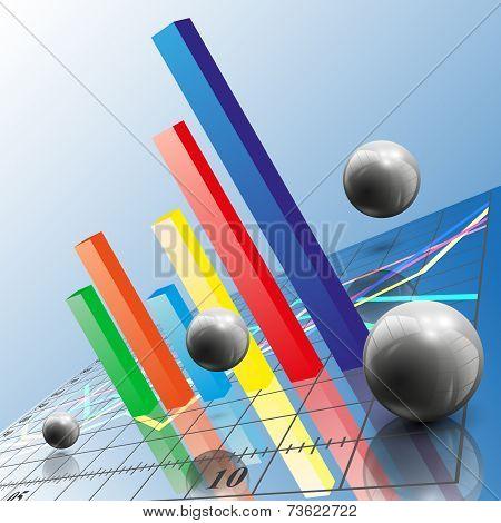 Progressive Bar chart. Abstract vector illustration