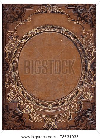 Isolated Old Brown Book Cover