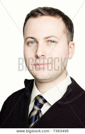 Portrait Of Young Man In Tie