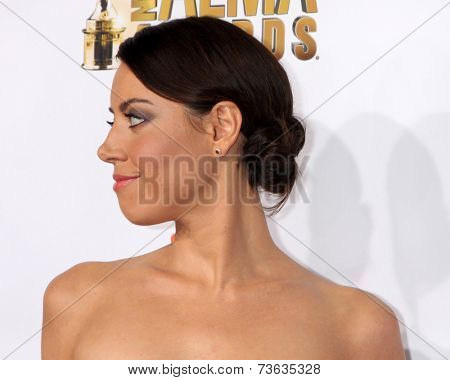 LOS ANGELES - OCT 10:  Aubrey Plaza at the 2014 NCLR ALMA Awards Arrivals at Civic Auditorium on October 10, 2014 in Pasadena, CA