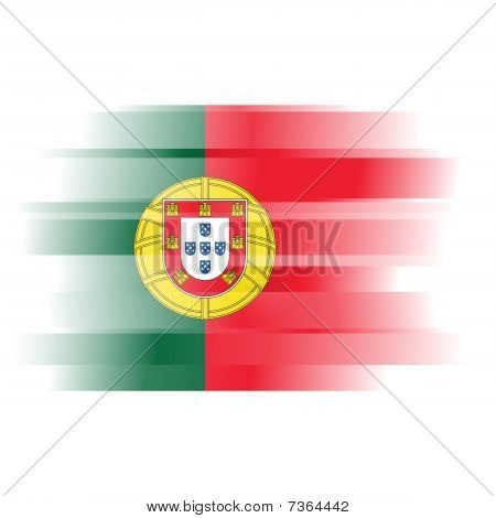 Abstract Flag Of Portugal On White Background