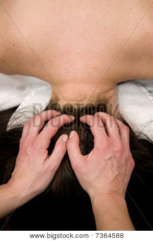neck and scalp massage